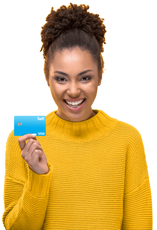 woman with self credit card